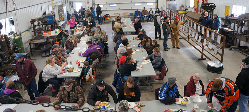 Lunch was served at the Circle J Angus 2016 Production Sale